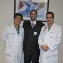 Dr. Dao Nguyen with patient, Dr. Armando Guia, and Dr. Marco Ricci
